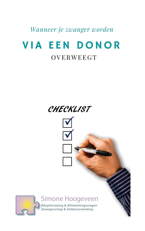 Checklist donorconceptie